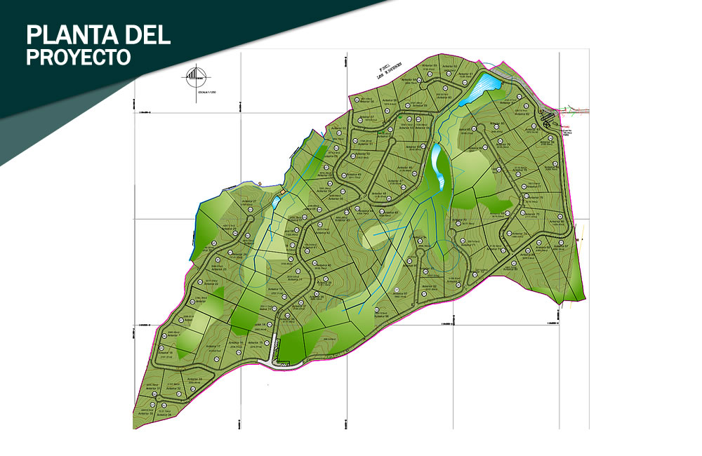 Mapa Llanogrande Hills