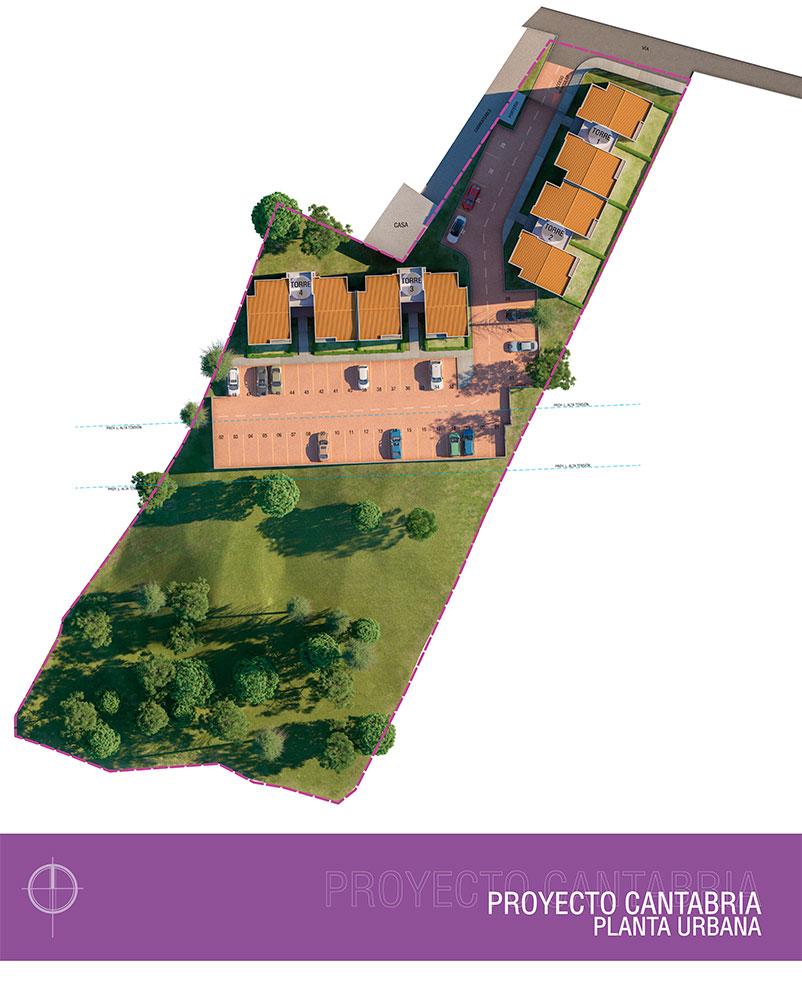 Mapa Cantabria Apartamentos, Constructora Serving